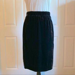 JCrew Velvet Skirt in Dark Navy